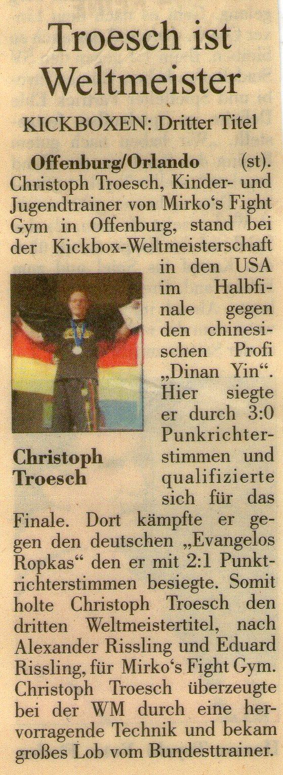 Troesch ist Weltmeister