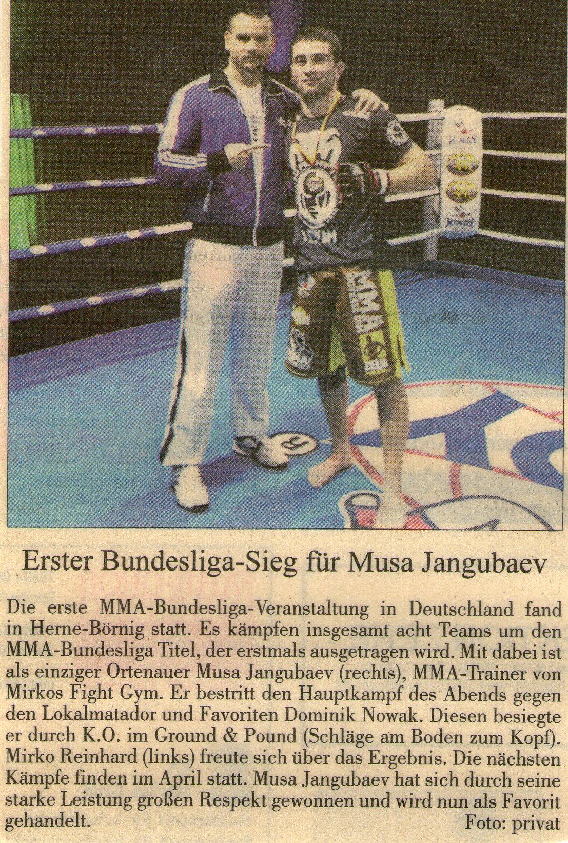 Erster Bundesliga-Sieg für Musa Jangubaev