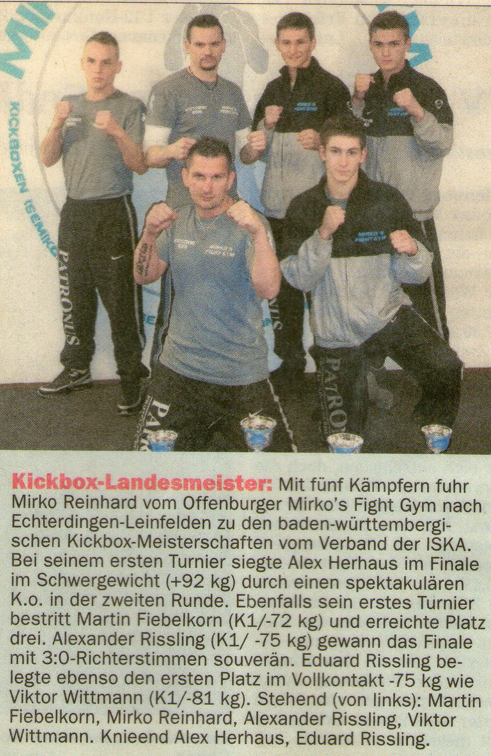 Kickbox-Landesmeisterschaft ISKA