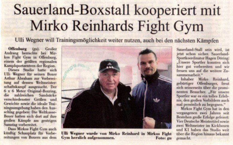 Sauerland kooperiert mit Fight Gym