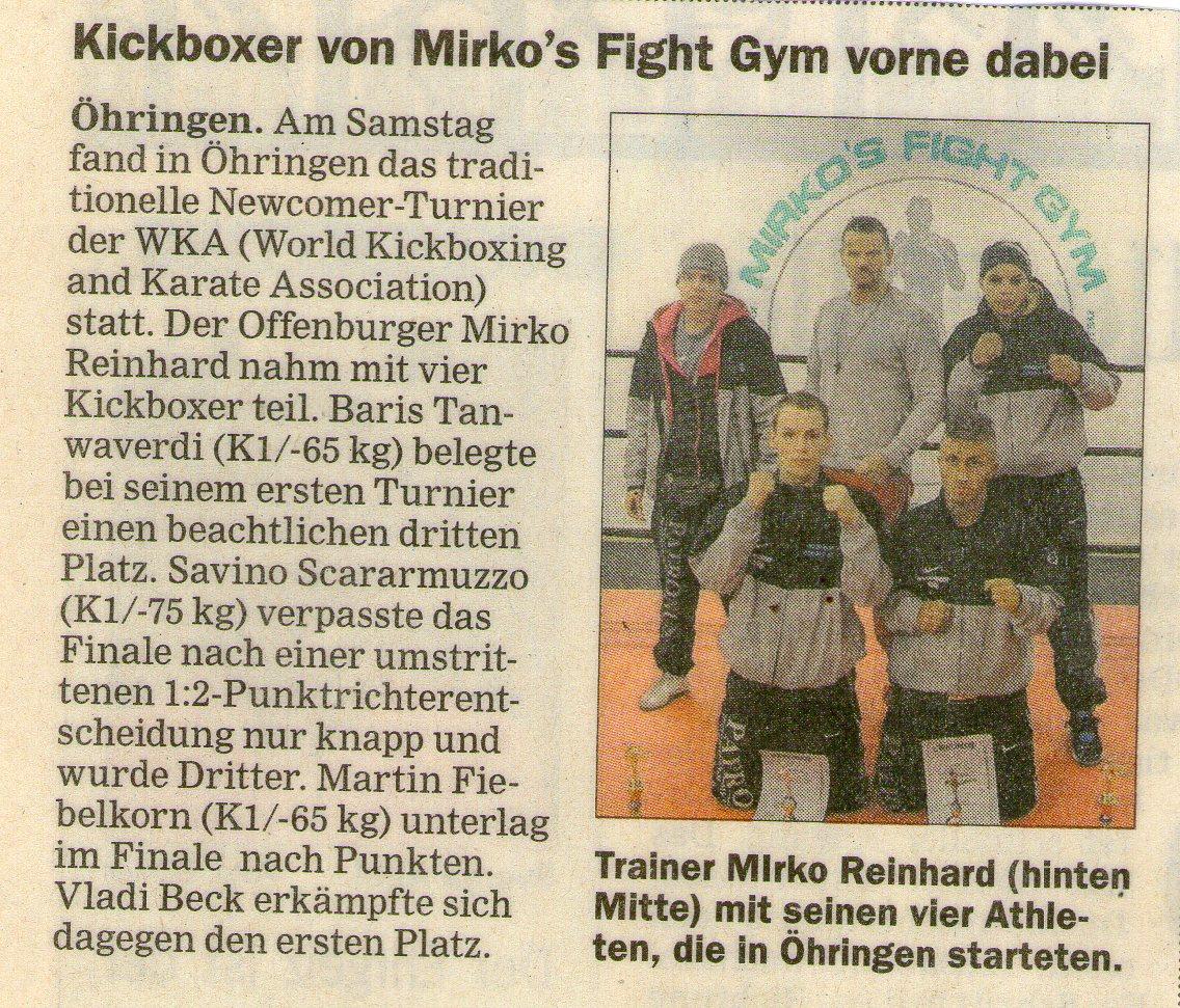 Kickboxer von Mikro´s Fight Gym vorne dabei